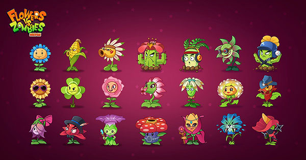 Merge Flowers vs Zombies Mod Apk
